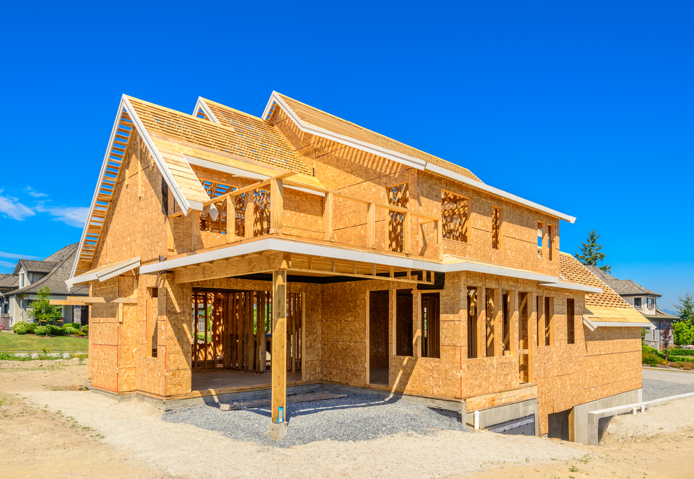 A new build home in phoenix under construction