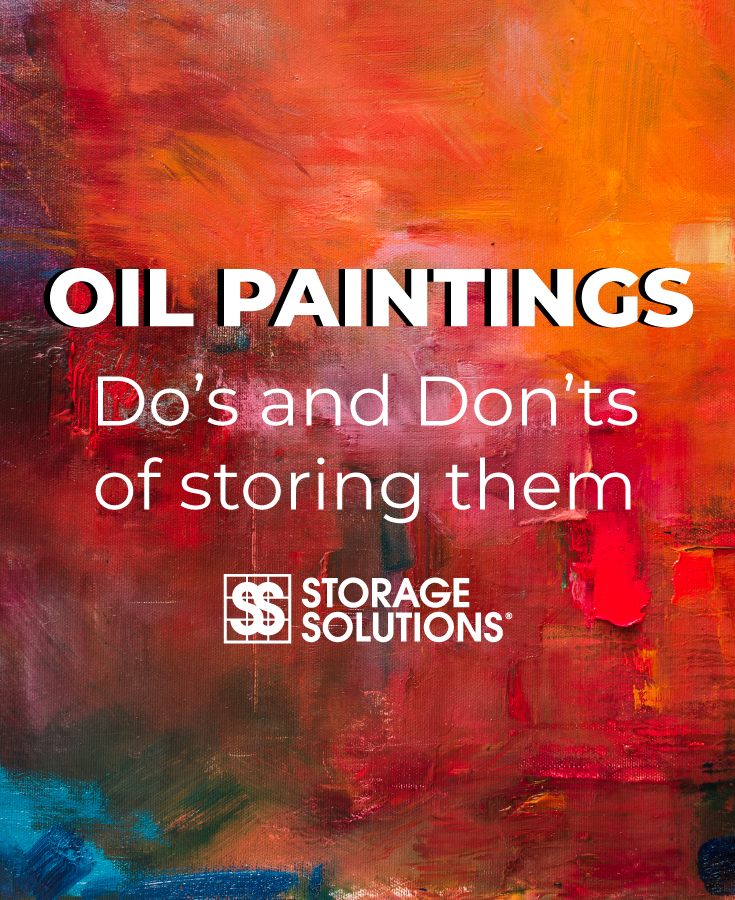 storing oil paintings on canvas