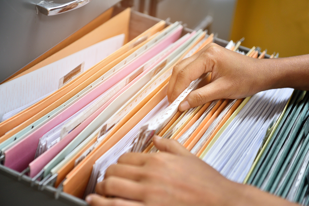how to store paper medical records