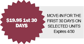 move in special 19.95 for the first 30 days