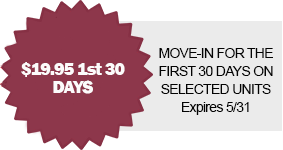 move in special for first 30 days
