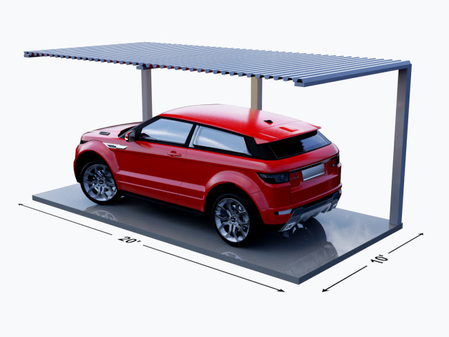 What Can Fit in a 10' x 20' Parking with Roof